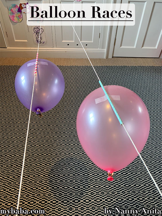 Balloon Races: Explore Newton's 3rd law with this fun children's experiment.