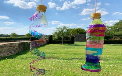 plastic bottle wind spinner
