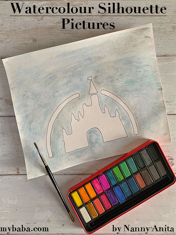 Help kids practice their blending technique with these watercolour silhouette pictures.