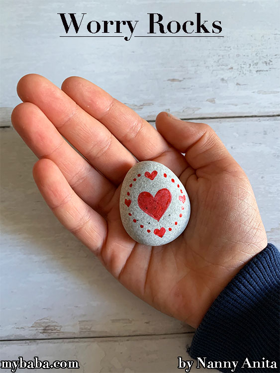 Worry Rocks: For kids to put in their pockets to help with separation anxiety at school.