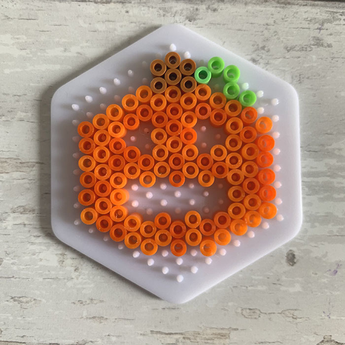 Hama bead pumpkins