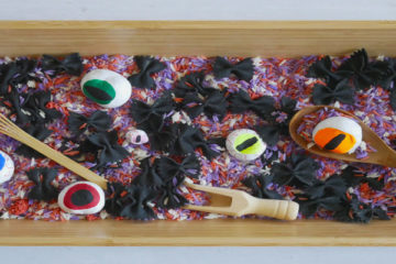 Conker eyeball sensory tray