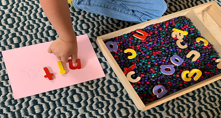 name sensory tray