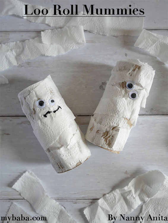 Loo roll mummies make a quick and easy Halloween craft for toddlers and preschoolers.