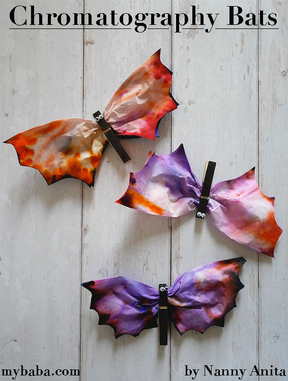 Use coffee filters to create some spectacular chromatography bats in this Halloween craft.