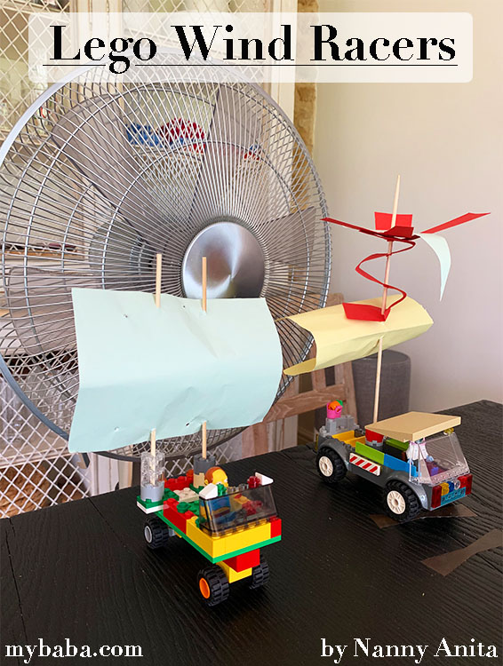 Lego Wind Racers: Stem Challenge. Who can build the quickest one?