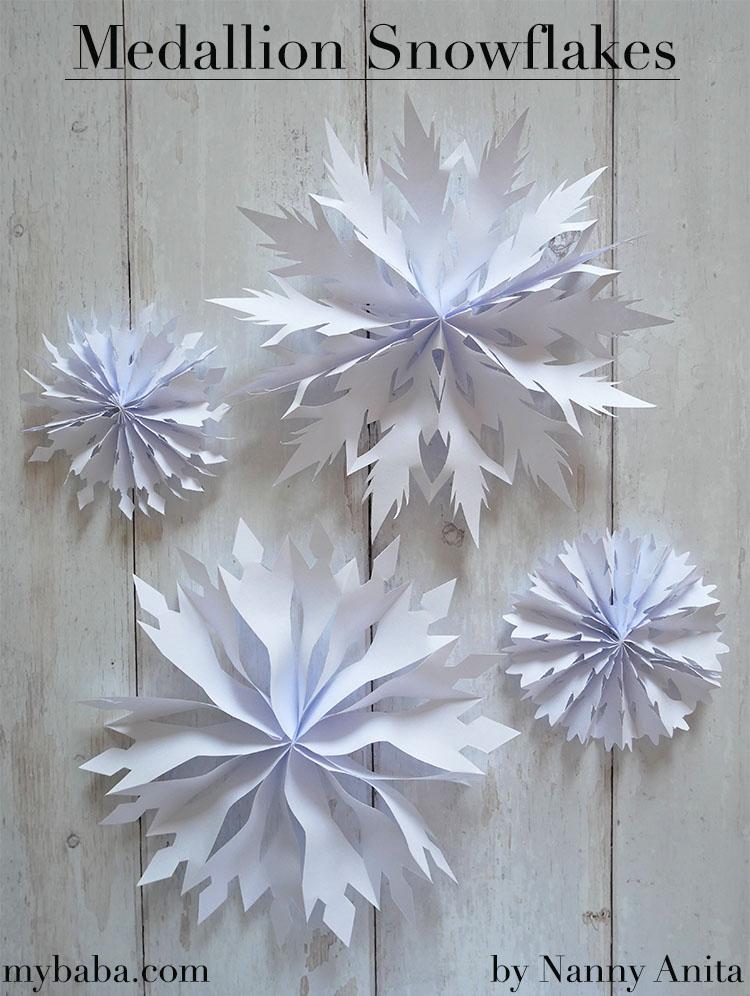Easy to make medallion snowflakes