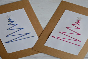 threaded christmas cards