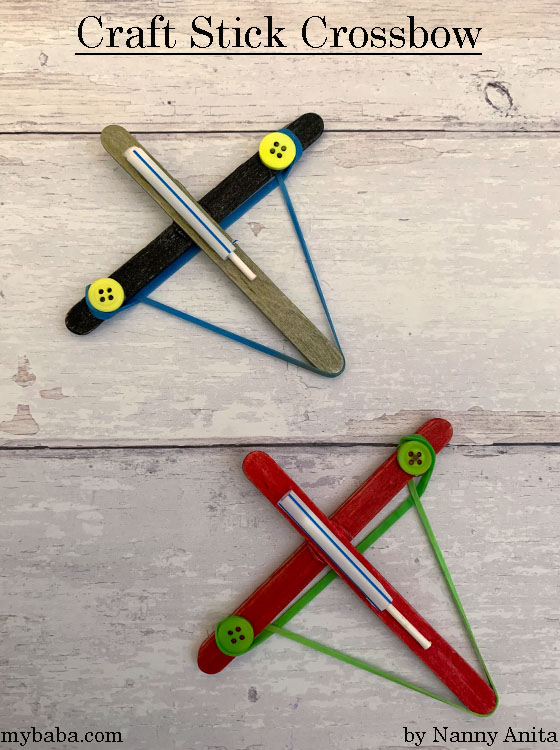 Make a craft stick crossbow that can shoot a q-tip across the room