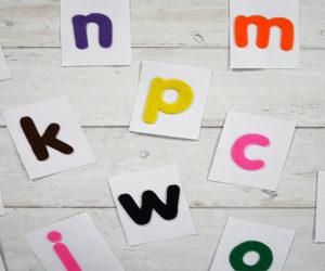 montessori letter flash cards