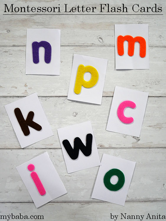 montessori letter flash cards for a multisensory approach to learning