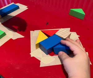 fill in the shapes with blocks activity