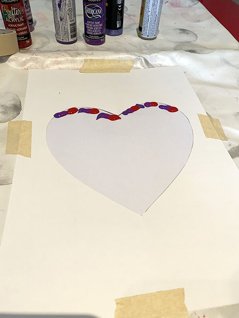 scrape art hearts