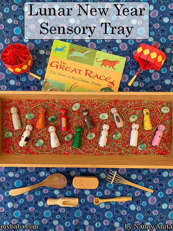 Explore the story behind the Chinese zodiac with this Lunar New Year Sensory Tray