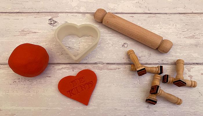 play dough conversation hearts