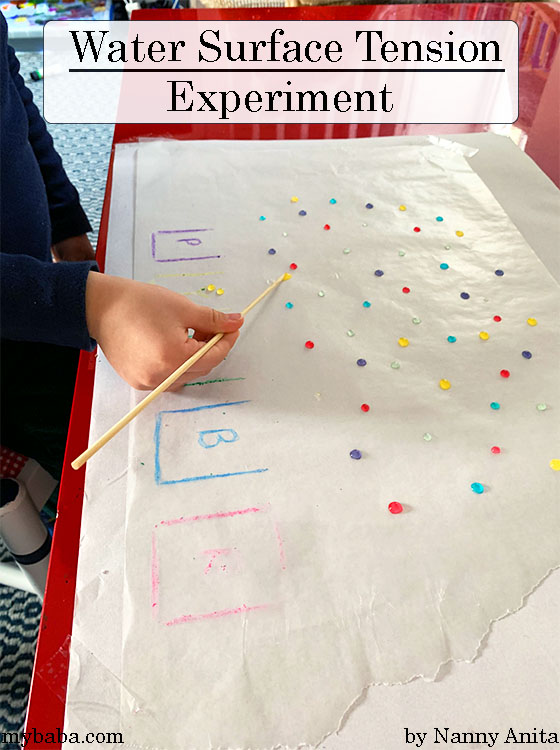 Exploring water surface tension with this STEAM activity for kids