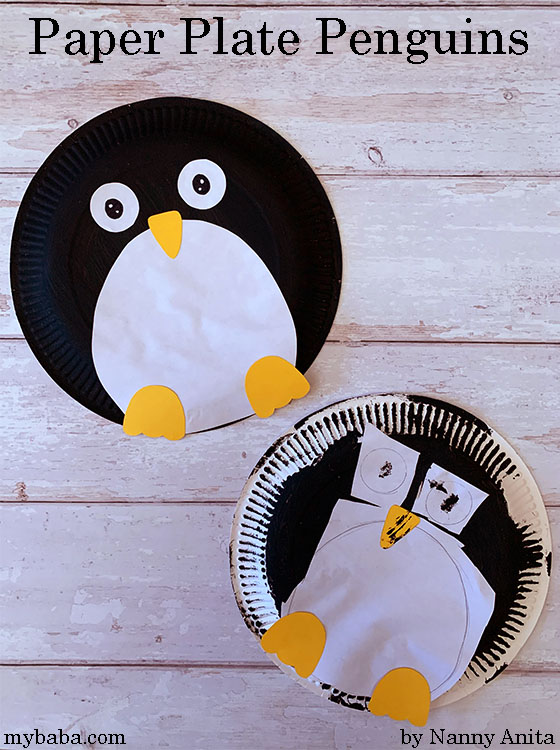 How to make a paper plate penguin kids craft.