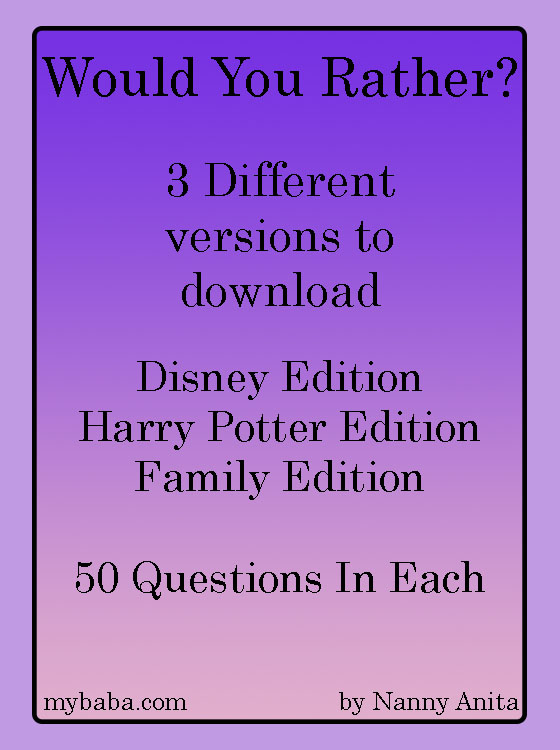 Would you rather game with 3 different free downloadable versions for the whole family to play.