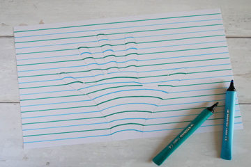 How to make a 3D hand drawing
