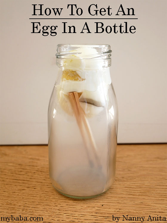 How do you get an egg in a bottle? Science experiment for kids.  Kitchen science for kids.
