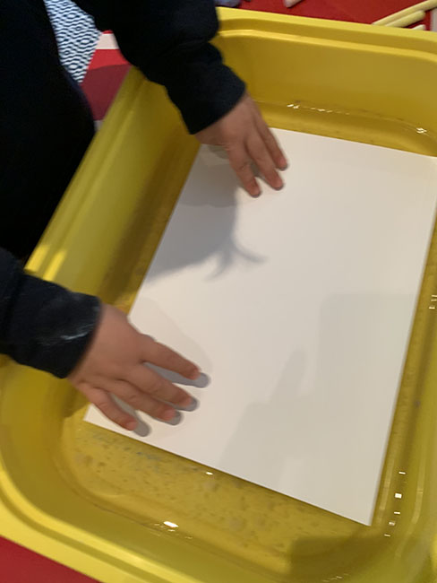 floating chalk printing