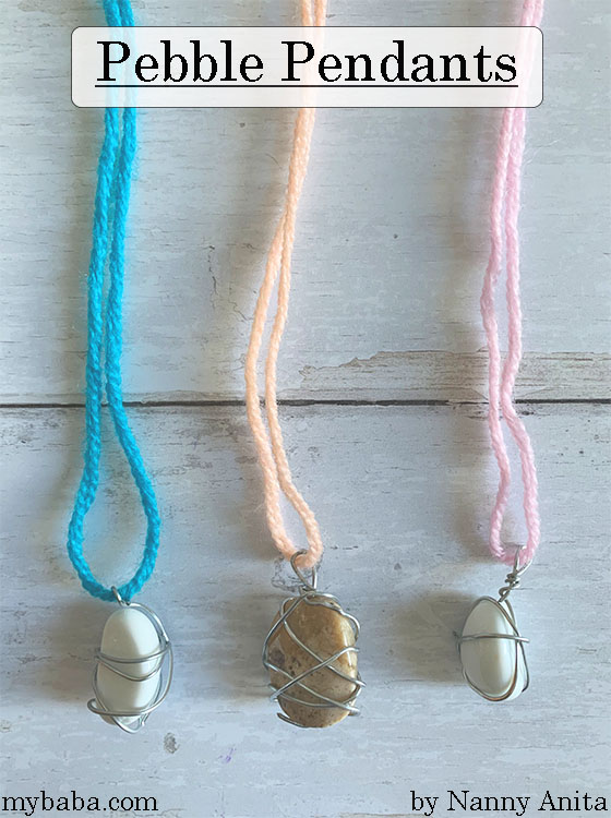 How to make homemade pebble pendants - craft for kids