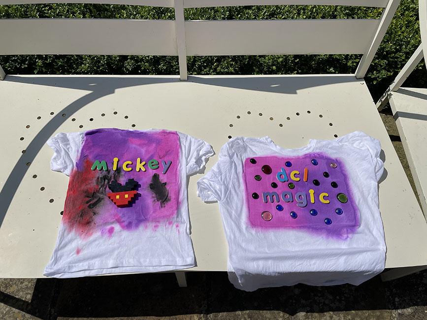 acrylic sun print t-shirts