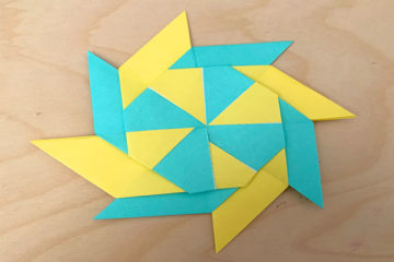 moveable origami ninja stars