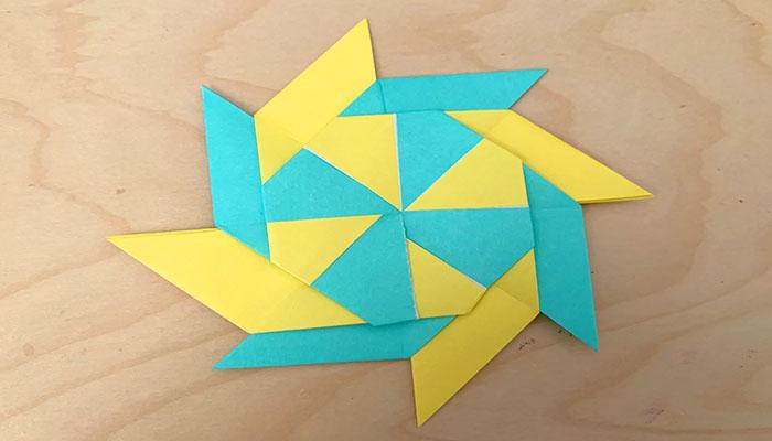 moveable origami ninja stars