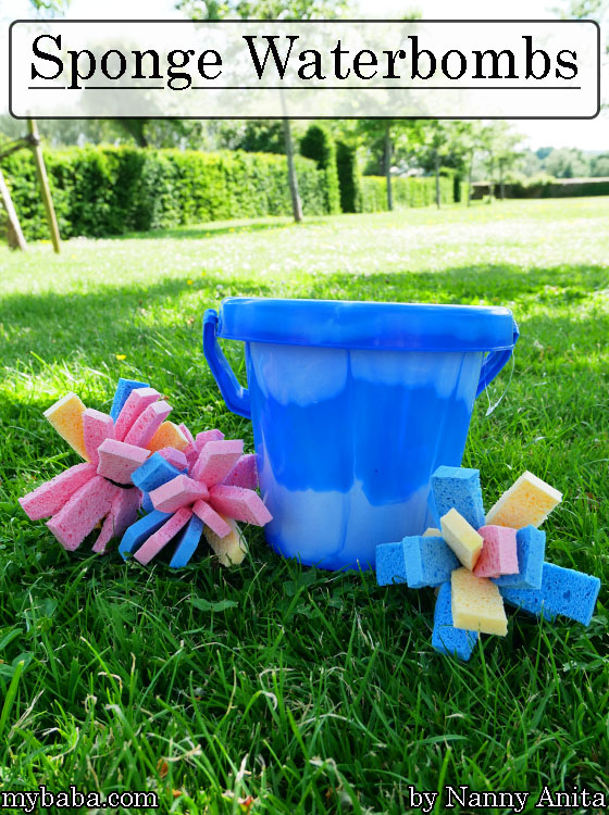 These sponge waterbombs can be reused all summer long. Kids activities