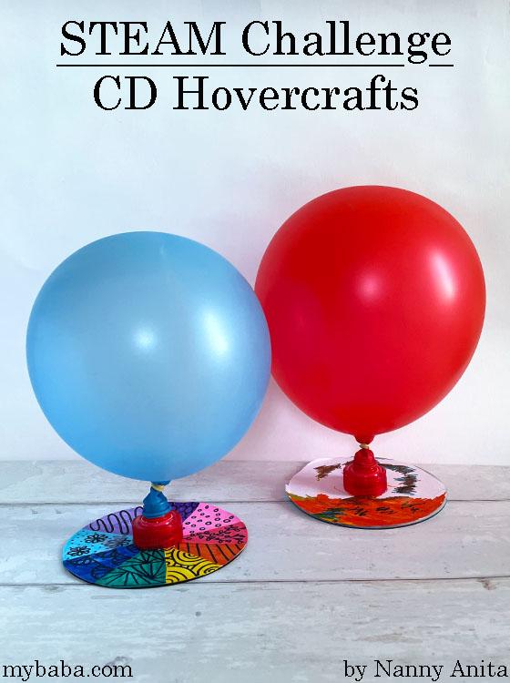 CD hovercrafts: Steam challenge for kids