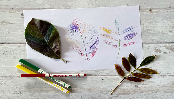 felt tip leaf printing