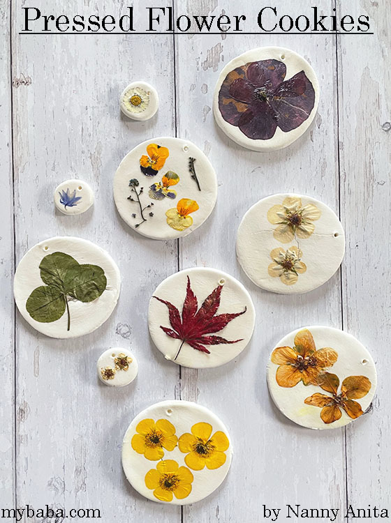 pressed flower cookies craft
